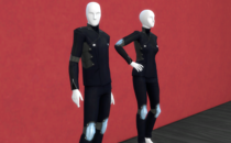 The Sims 4 CC - Persona 5 - Skull Outfit Mod