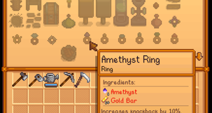 Stardew Valley Craftable Rings Mod