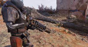Fallout 76 Darkened Gauss Shroud (Shield) Mod