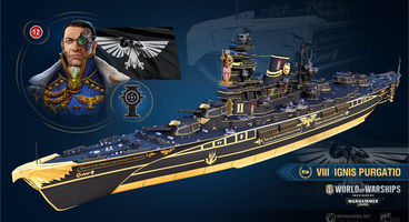In the Grim Darkness of World of Warships, there is only Warhammer