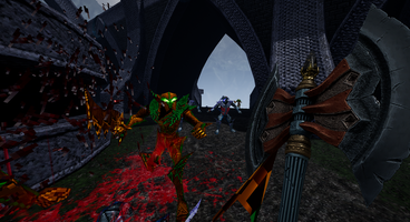 AMID EVIL from the makers of Rise of the Triad and DUSK is inspired by Heretic/Hexen