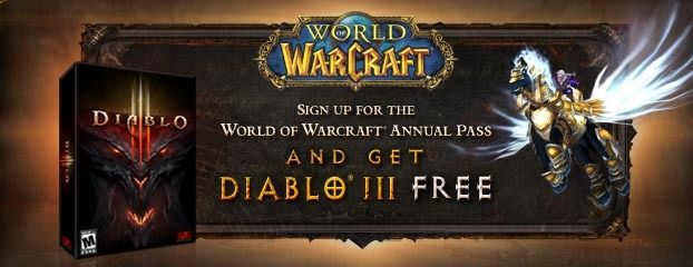 BlizzCon 2011: Purchase World of Warcraft annual pass, get Diablo III free