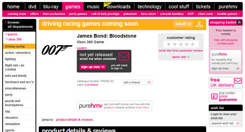 Rumour: Acti and Bizarre's James Bond racer called 'Bloodstone'?