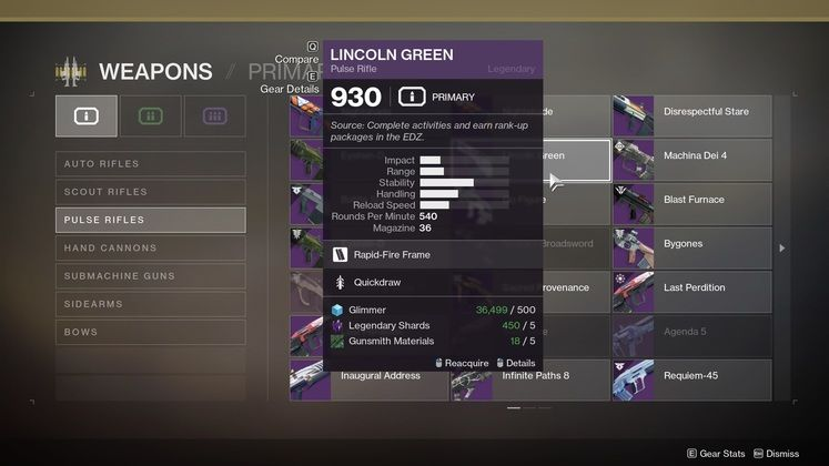 Destiny 2 Lincoln Green - How to get the EDZ Pulse Rifle?