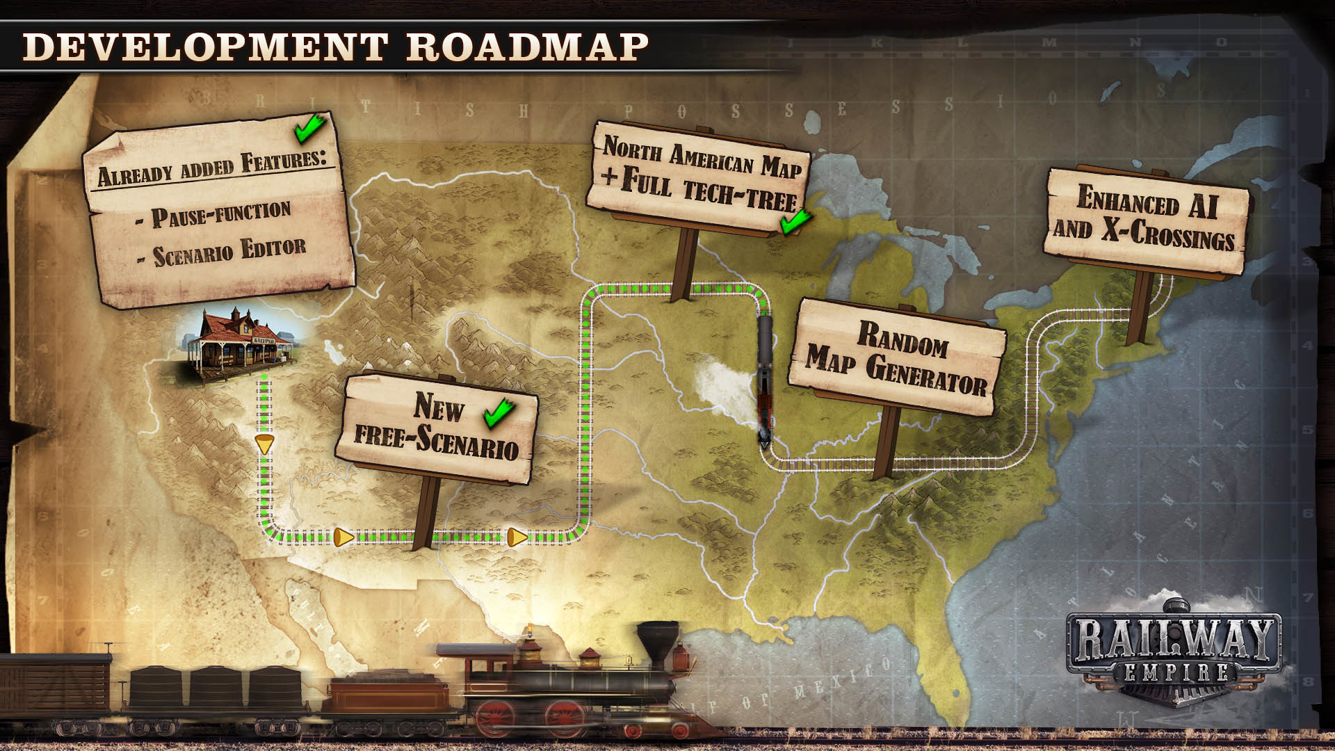 Railway Empire releases Transcontinental Content Update DLC