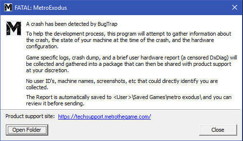 Metro Exodus Patch Notes - PC Hotfix Version 1.0.1.1