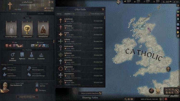 Crusader Kings 3 Вера и пыл, Путеводитель по религии