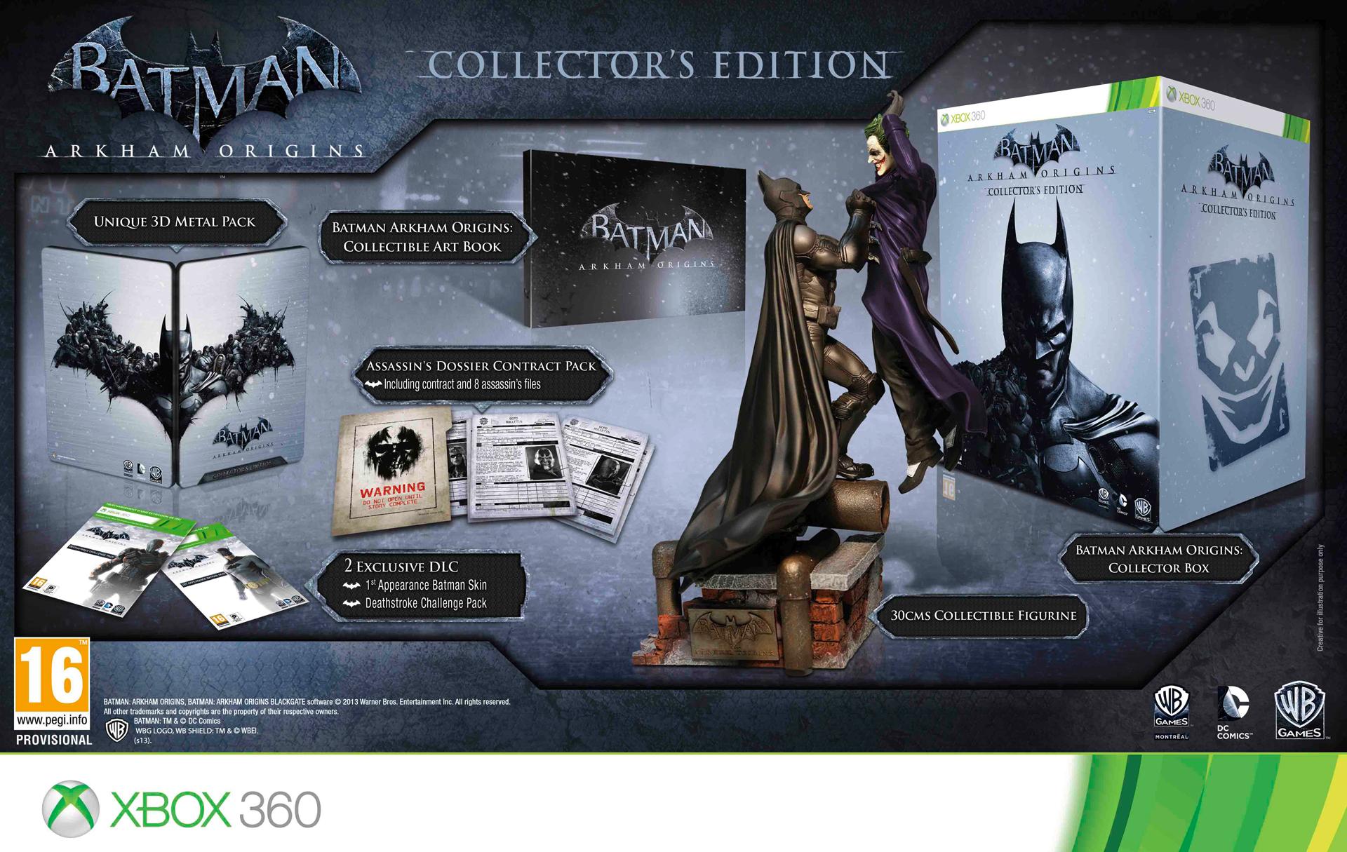 Batman  Arkham Origins Collector s Edition includes 30cm statue 9febe516b41