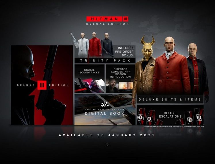 Hitman 3 Trinity Pack and Deluxe Edition Pre-Order Guide