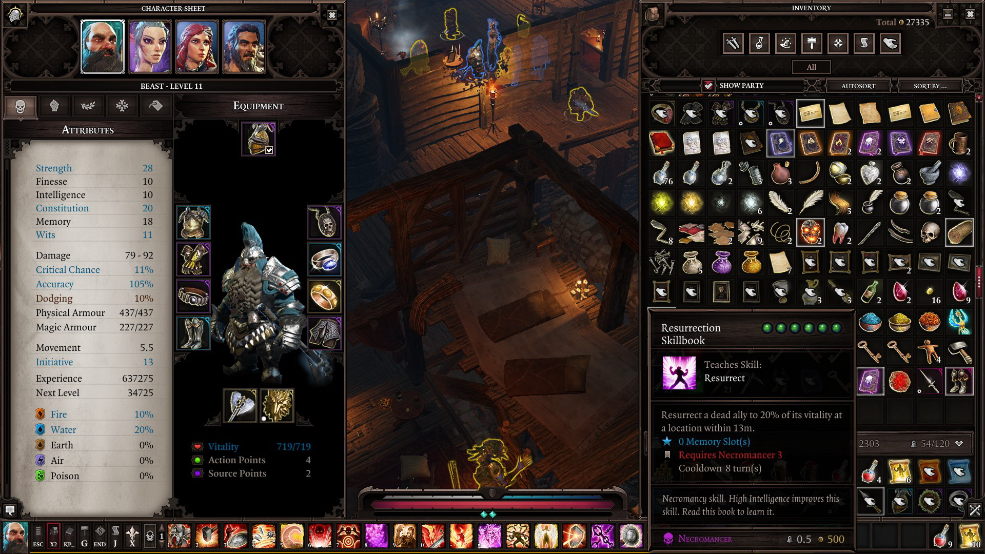 Divinity Original Sin 2 Resurrection Spell - Is it Possible