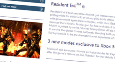 Capcom agree to timed exclusivity for Resident Evil 6 DLC for Xbox 360