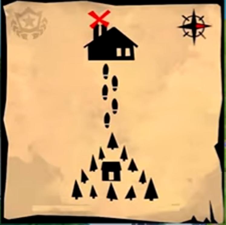 Fortnite Week 9 Challenges - Moisty Mire Treasure Map Location