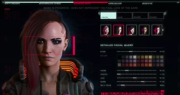 In Cyberpunk 2077 you don't choose gender, you