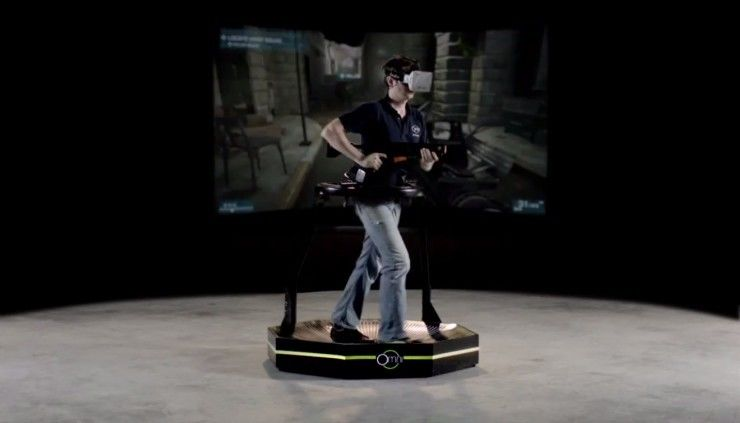Virtuix Omni demo shows Counterstrike played with full-body VR