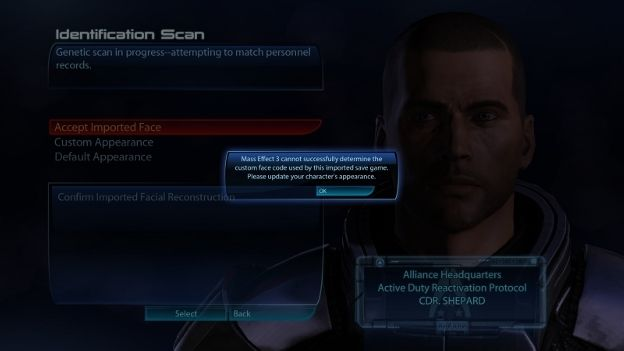 Mass Effect 3 face fix included in this week's patch