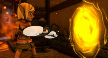 Dungeon Defenders armed with Portal Guns and TF2 Familiars