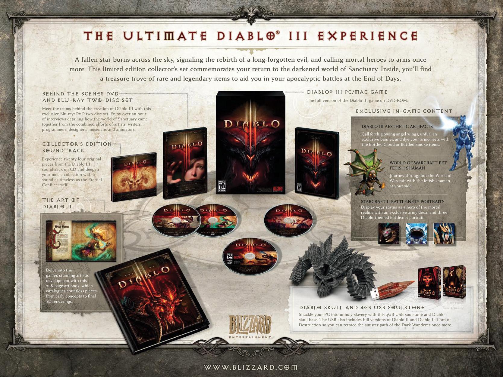 GameStop reveals Diablo III Collector's Edition content