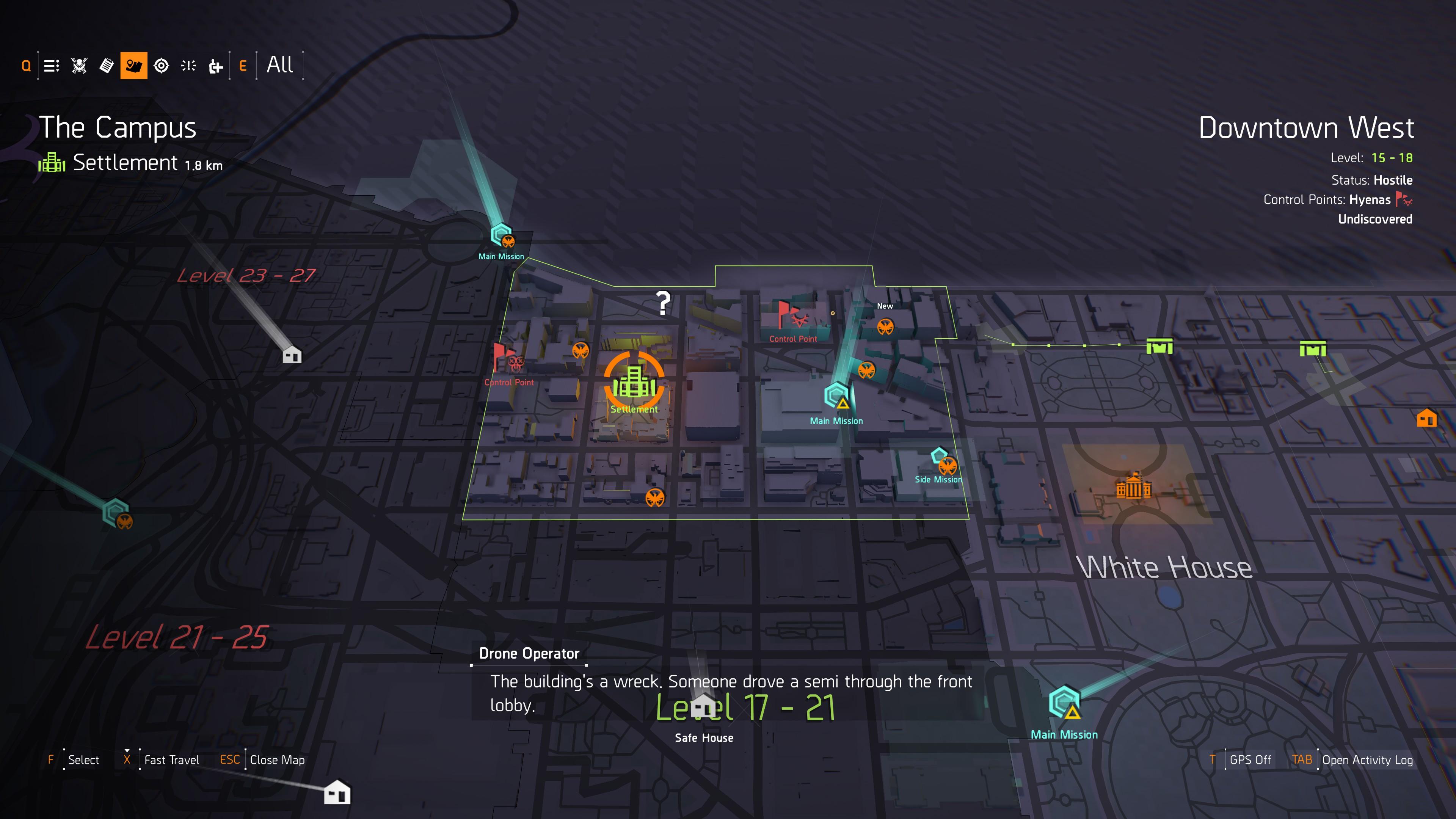 The Division 2 Blueprints -- Where's the Blueprint Vendor