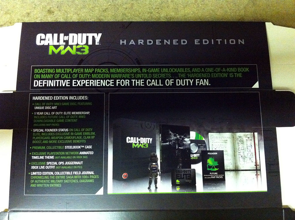 Call Of Duty Modern Warfare 3 Hardened Edition Features Gamewatcher