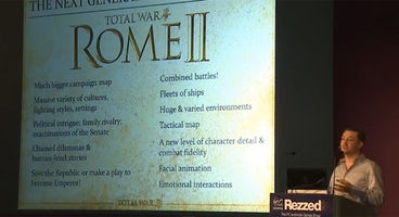 Total War: Rome II and Company of Heroes 2 playable at Rezzed