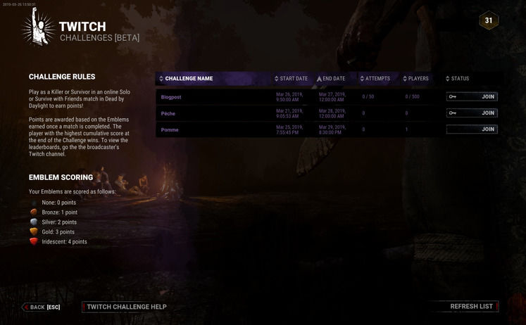 Dead by Daylight Twitch Challenge - How do the Twitch Challenges Work?