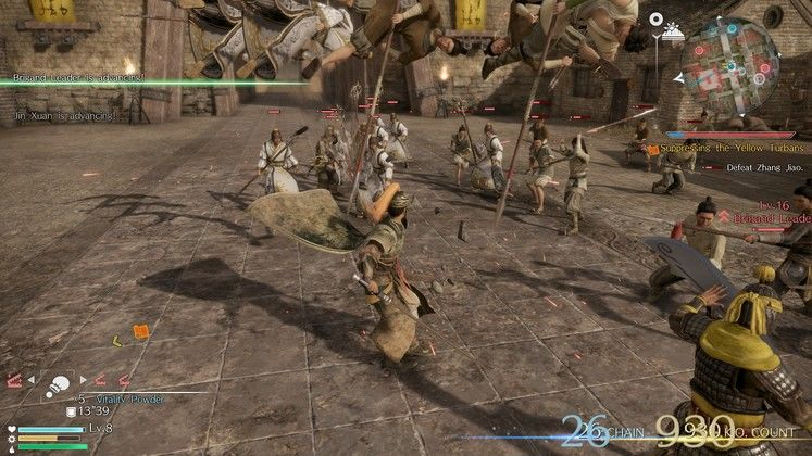 You can knock enemies into the air, jump, stay in the air, and hack at them. Martial arts!