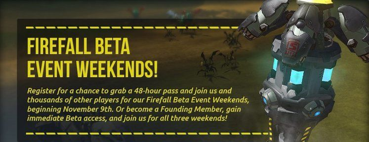 Firefall hosting open beta weekends in November and December