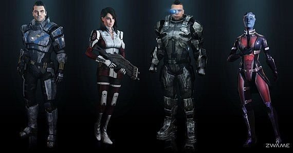 Some new Mass Effect 3 uniforms shown, James Vega revealed