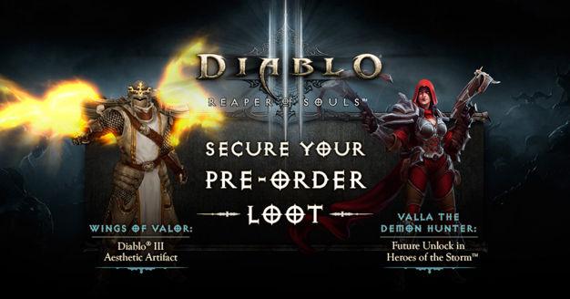 Pre-order gifts for Diablo III: Reaper of Souls if keys redeemed before March 31st