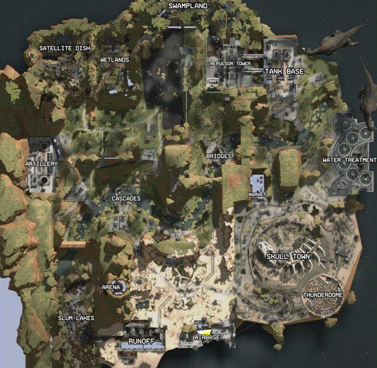 Apex Legends Map - Leaked Screenshot Seemingly reveals Map Locations