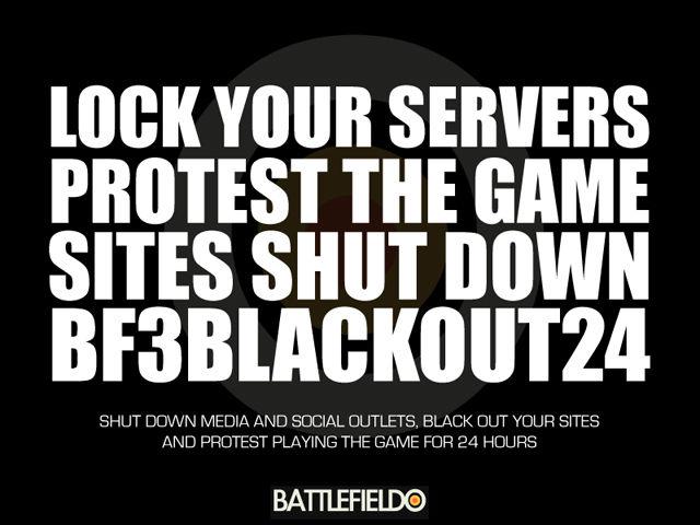 Battlefieldo launching 'Blackout Battlefield' campaign in protest to EA