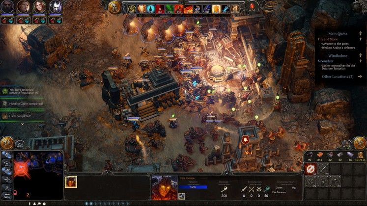A unique blend of RTS and RPG.