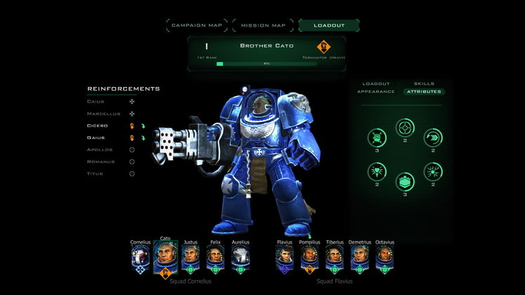 Space Hulk Ascension's RPG leanings allow you to invest XP into customising and specialising your Terminators.