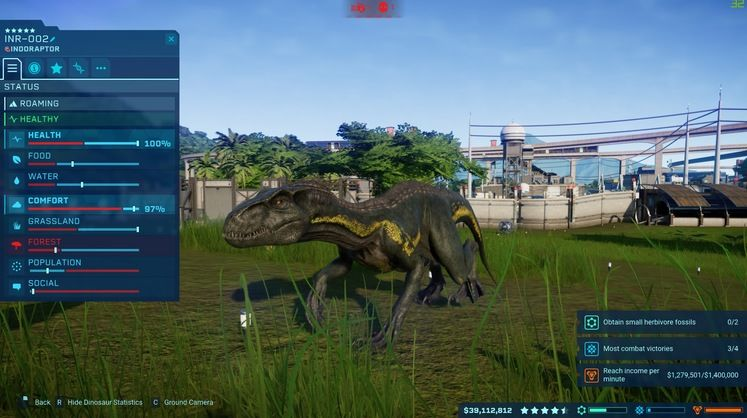 Jurassic World Evolution - How To Get The Indoraptor