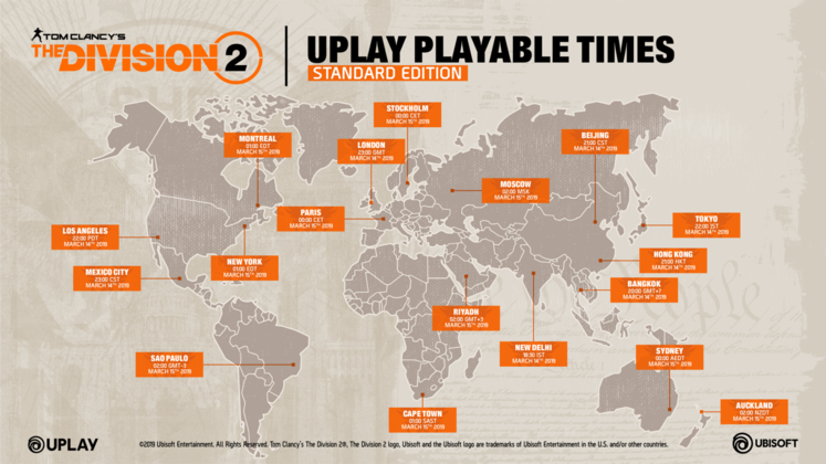 The Division 2 Release Times - What Time Does The Division 2 Launch on PC?