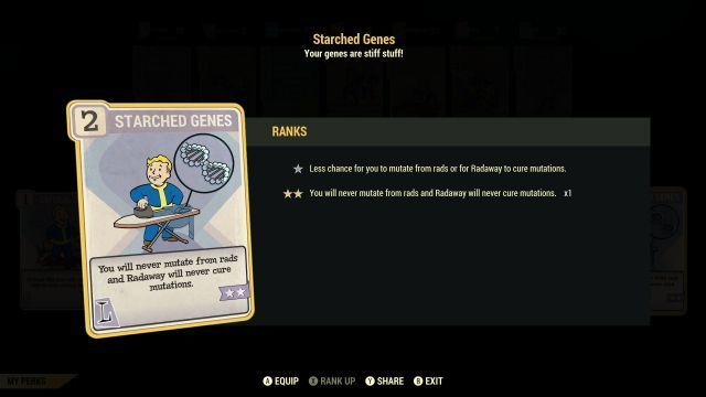 Fallout 76 Starched Genes - How to Get The Starched Genes Perk?