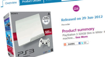GAME land exclusive white 320GB PS3 for £240