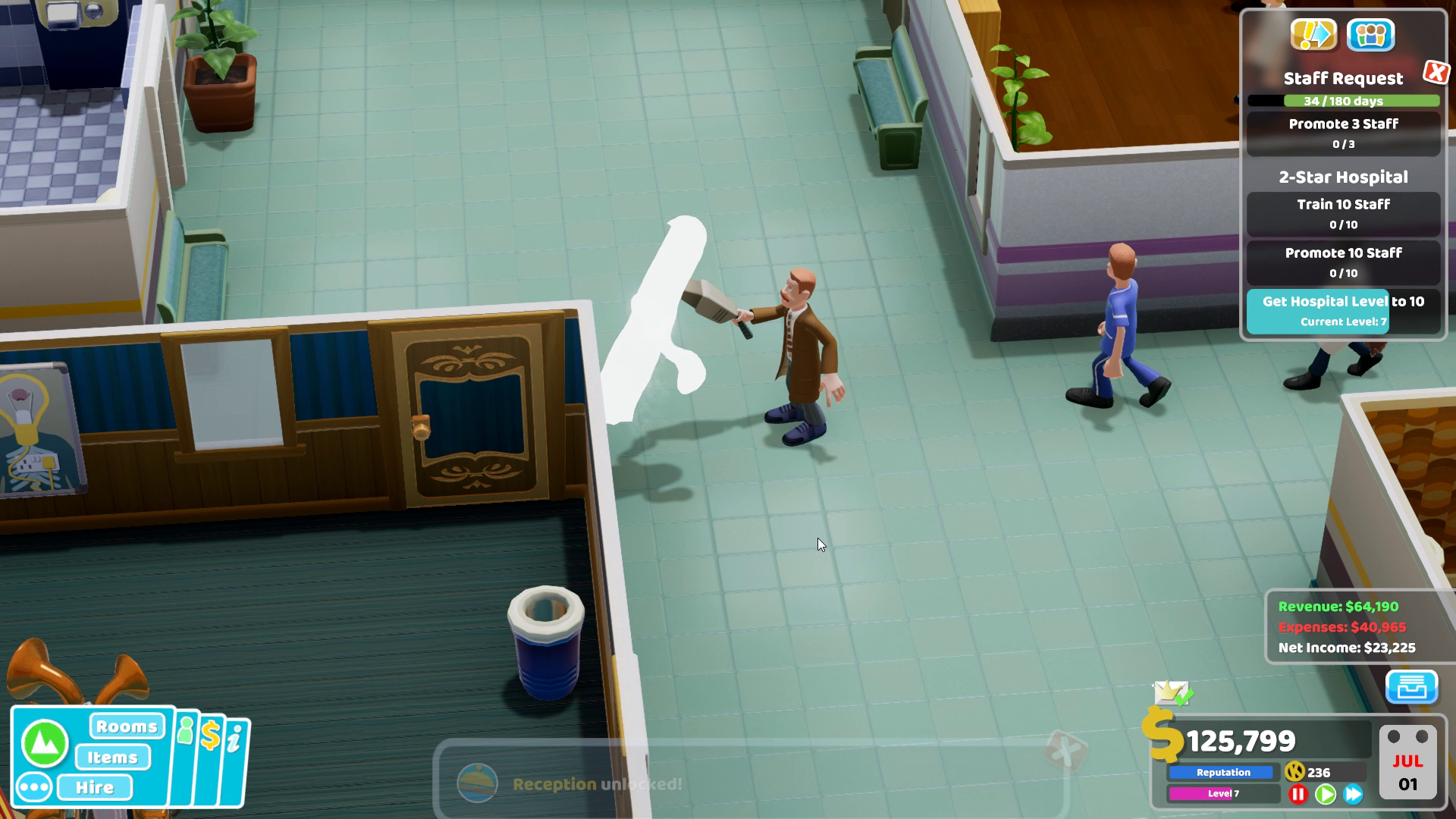 Two Point Hospital PC Interview