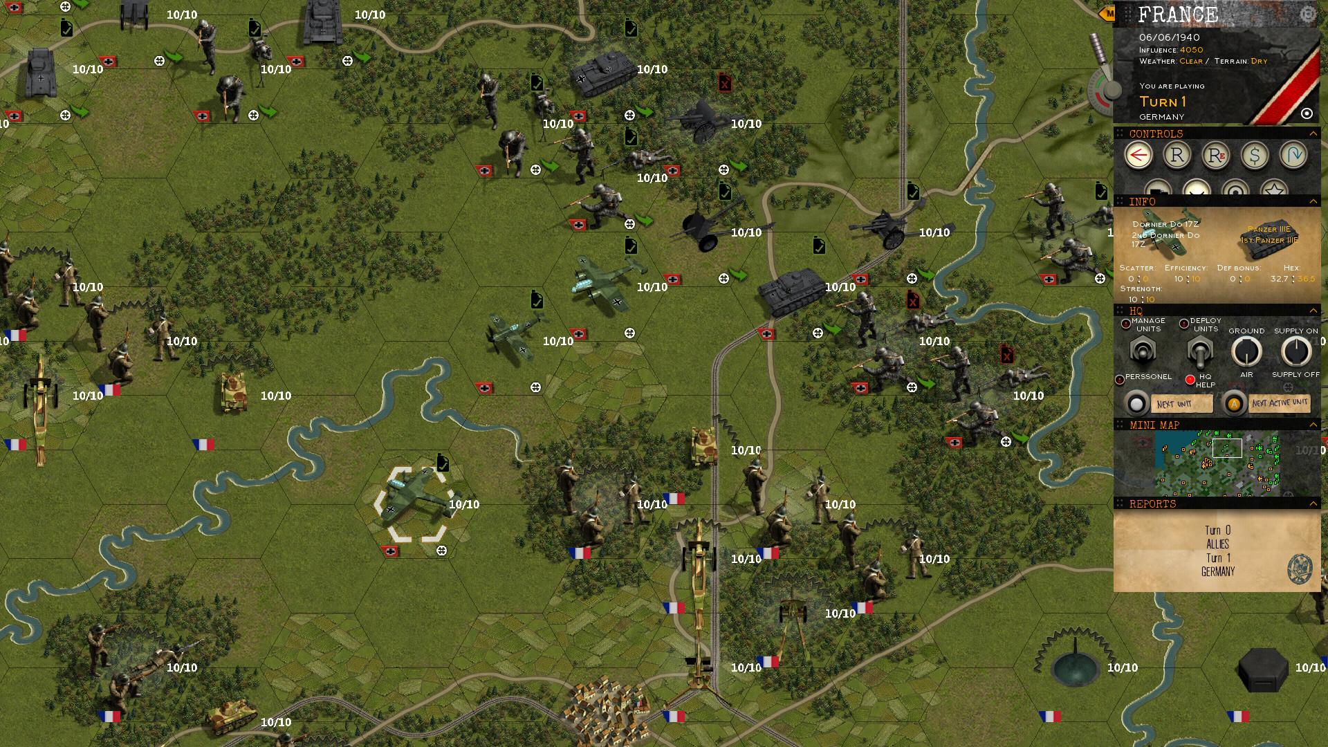 World War II Turn-Based Wargame Klotzen! Panzer Battles
