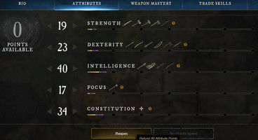 New World Respec Cost - How to change Attributes and Skill Masteries