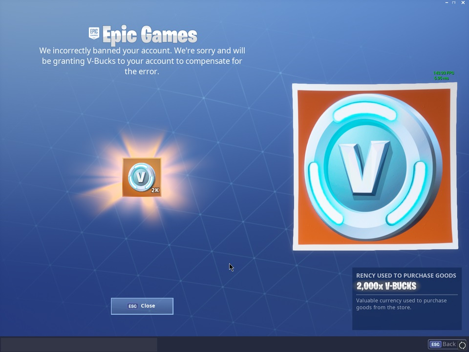 Epic Games V Bucks
