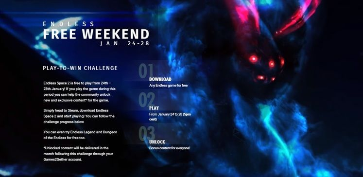 Endless Space Free Weekend - Running from 25th Jan - 28th Jan on Steam