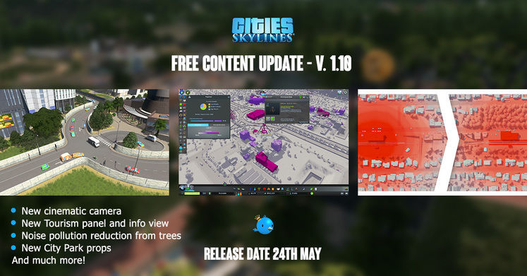 Cities Skylines Patch Notes V1.10 - Parklife Expansion Releasing at 2pm BST