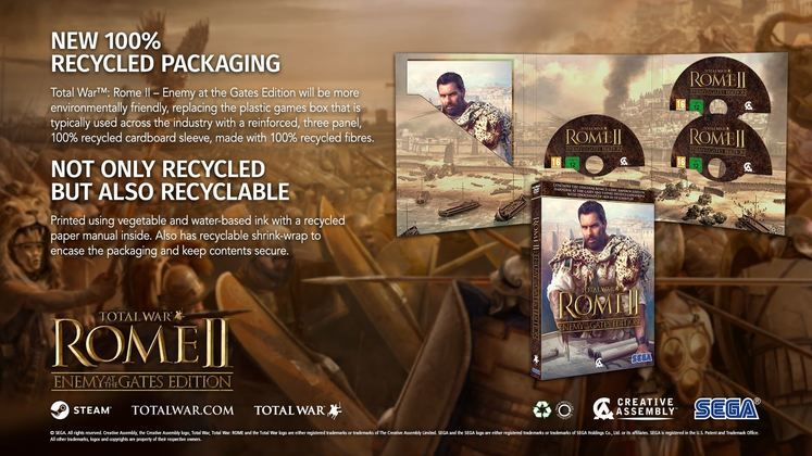 Sega Europe To Use Fully Recyclable Packaging for Upcoming Physical PC Games