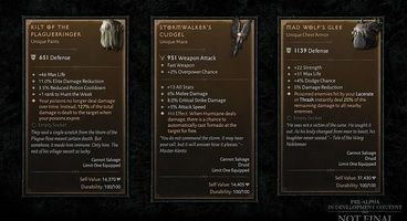 Blizzard Shares Details on Diablo 4's Itemization, Customizable Primary Stats Returning