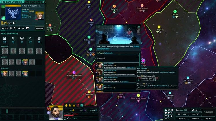 Hands-on Preview - Space Feudalism wrapped in a turn-based shell
