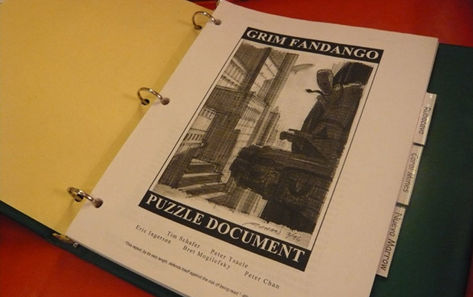 Schafer gifts Internet original design papers for Grim Fandango