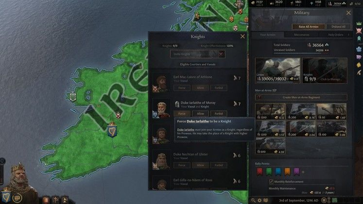 Руководство Crusader Kings 3 Knights
