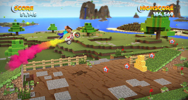 Joe Danger on Steam will include Team Fortress 2 and Minecraft objects