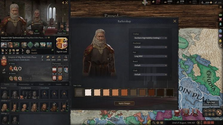 Crusader Kings 3 Character Creator - Barbershop and Ruler Designer